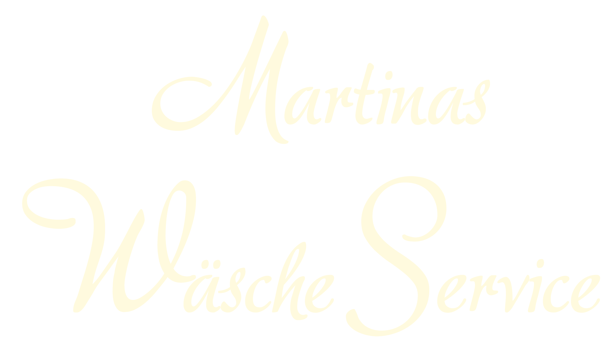 Schriftzug Martinas Wäsche Service