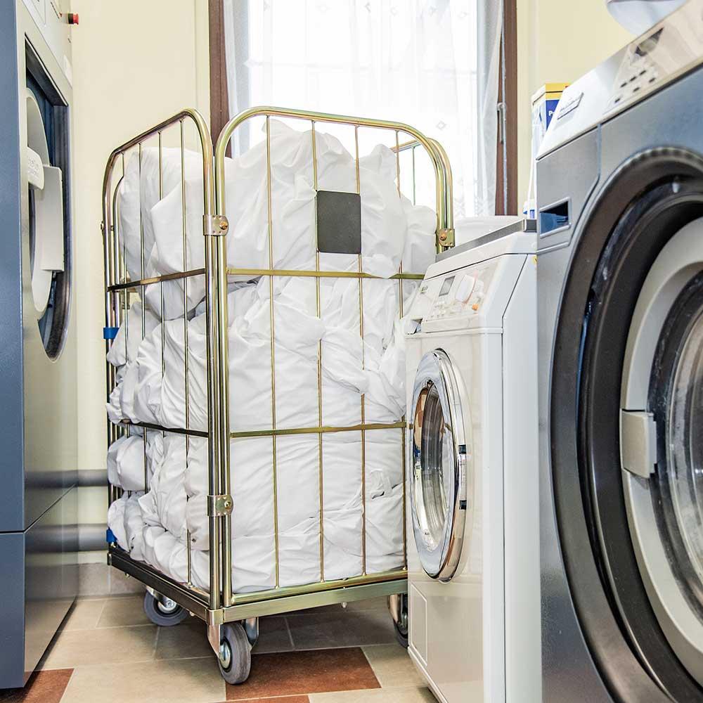 Innenaufnahme Martinas Wäsche Service Wäscherei Bansin Insel Usedom